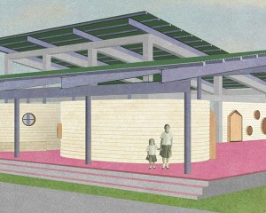 El Jicarito school rendering by KnitKnot Architecture