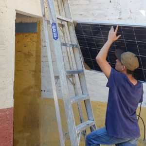 Solar panel installation at La Laguna