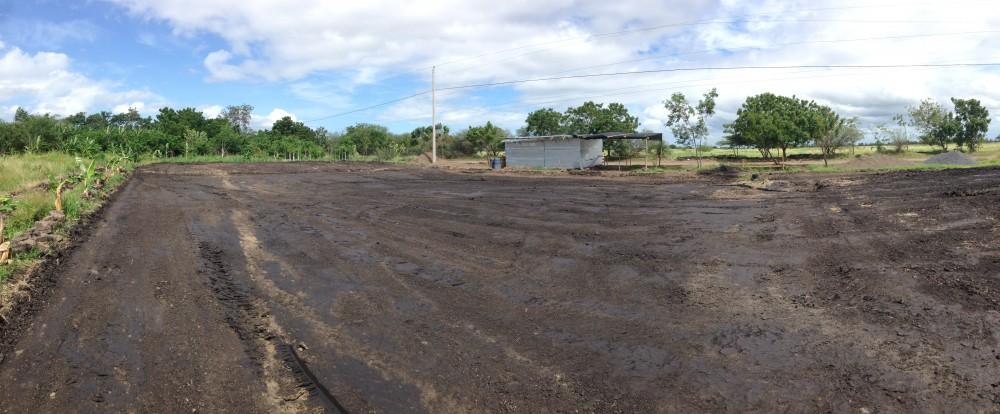 preparing land in el jicarito nicaragua